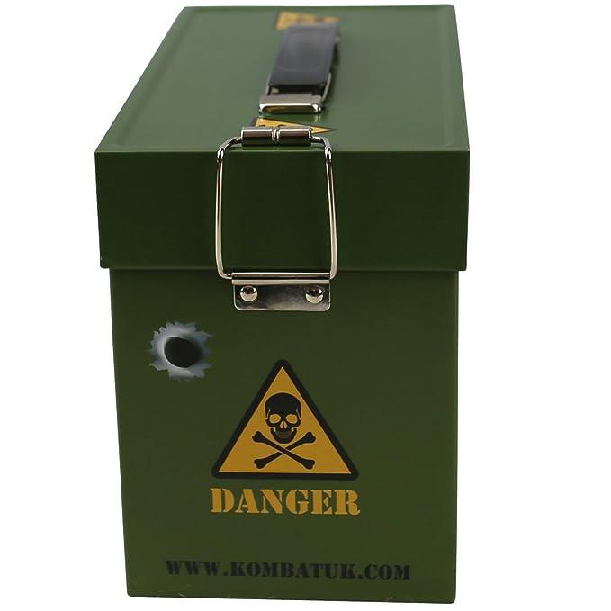 Amazon.com: Kombat UK Kids Army Ammo Tin - Toy Storage Box ...
