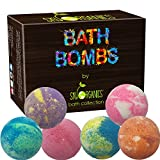 Best Lush Bath Bombs Bath Bombs Gift Set by Sky Organics, 6 x 5 Oz Ultra Lush Huge Bath Bombs Kit, Best for Aromatherapy, Relaxation, Moisturizing with Organic & Natural Essential Oils -Handmade Organic Spa Bomb Fizzies