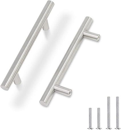 TRIXES PACK DE 20 acier inoxydable 100 mm large tiroir armoire T-Bar Poignées