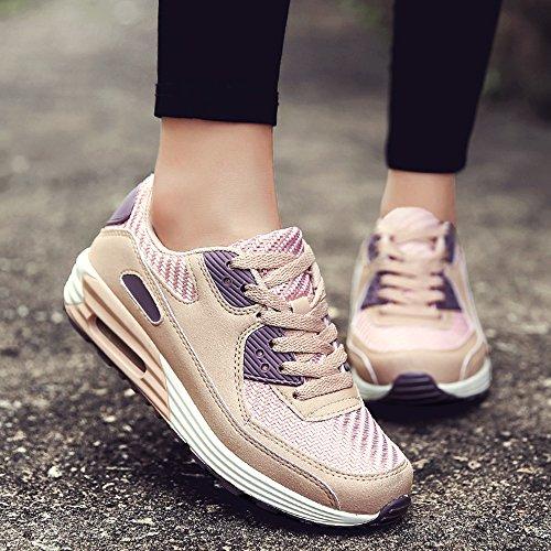 Zapatos Mujer Sneakers Aire Hasag de de con Pink Nuevos purple Deportivos de de Zapatos Mujer Estudiante Moda Cojín Zapatos de wawT8Cq0