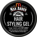 Man Aden Hair Styling Gel - High Hold with Wet Looks, 50g