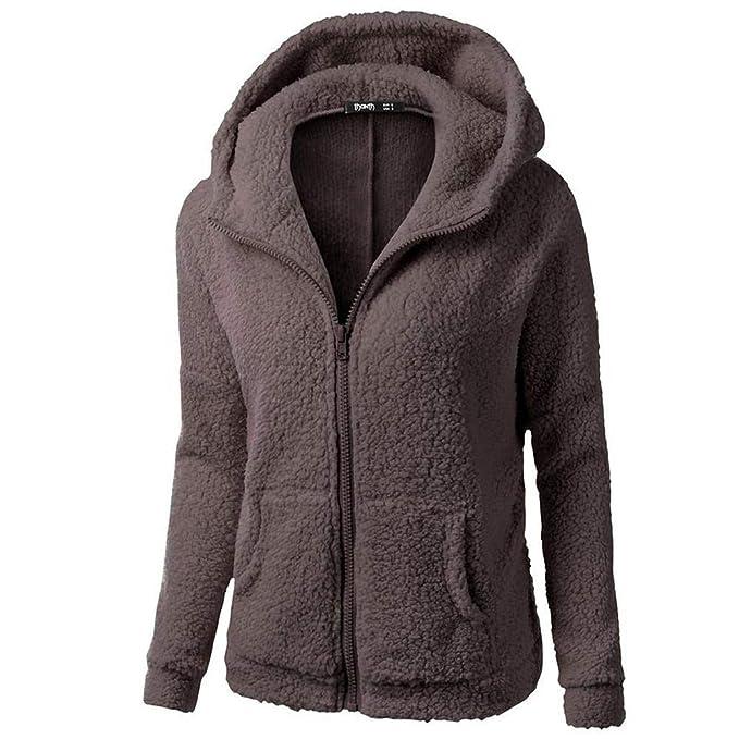 a93cf4fab7 Jacket Damen Lange Sweatjacke Kapuzenjacke Sweatshirtjacke Herbst Frühling  Heißer Frauen Mädchen lang Esprit Mantel Hooded Sweater Coat Winter Warm  Wool ...
