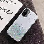 KC Starry Dry Non Moving Sparkling Bling Shining Glitter Stars Soft Silicone Back Cover for Mi Redmi Note 10 & Mi Redmi…