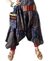 Harem Pants Boho Genie Hippie Gypsy Yoga Pants Trouser Baggy Blue