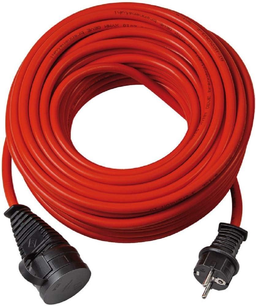 Brennenstuhl Bremaxx Verlängerungskabel 25m Kabel In Rot Für Den Kurzfristigen Einsatz Im Außenbereich Ip44 Stromkabel Einsetzbar Bis 35 C Öl Und Uv Beständig Baumarkt