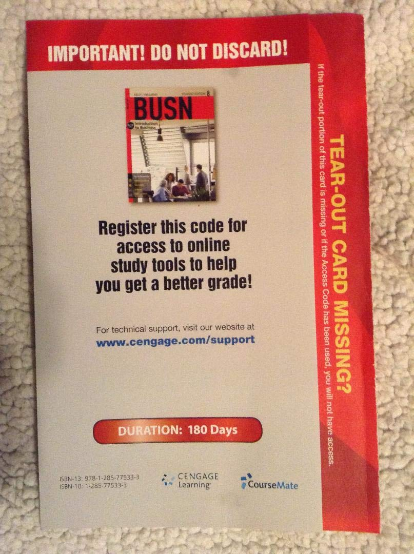 Tear-Out Card for Access to BUSN 8 pdf