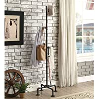 Furniture of America Revo Industrial Sand Black Coat Rack