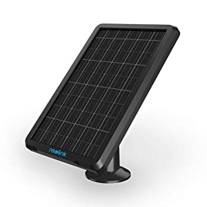 Reolink Solar Panel Power Supply for Wireless Outdoor Rechargeable Battery Powered IP Security Camera Reolink Go/Argus Eco/Argus 2/Argus Pro