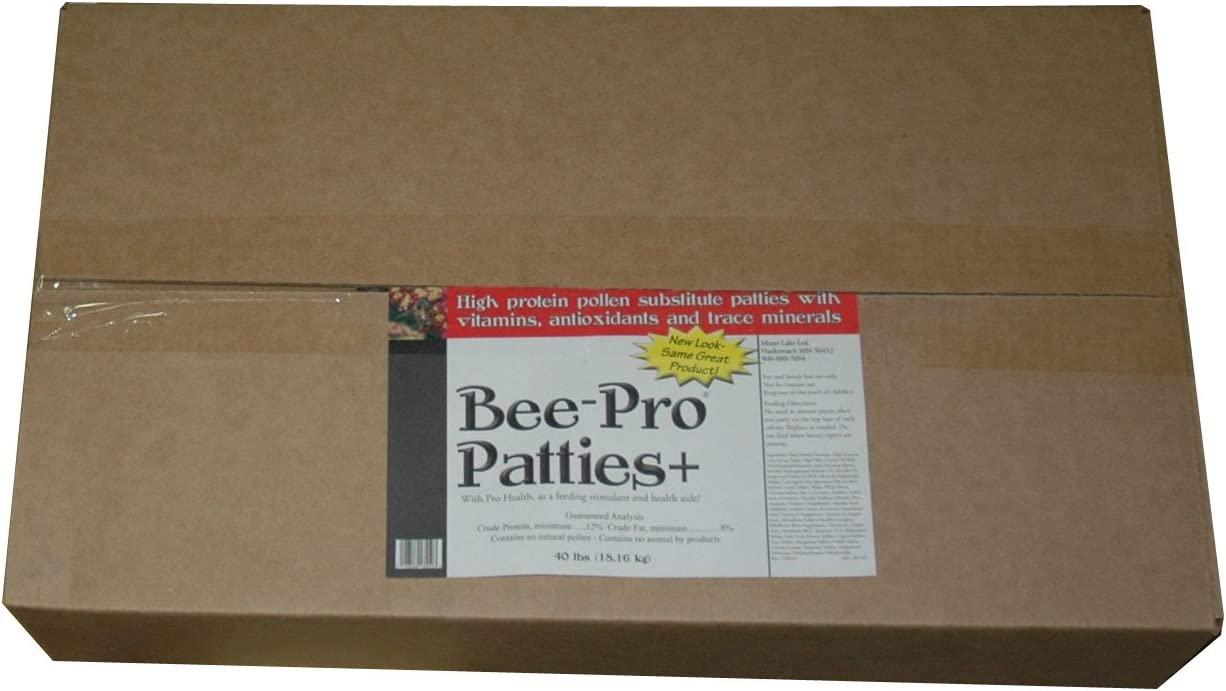 Mann Lake FD355 Bee Pro Patties with Pro Health, 40-Pound