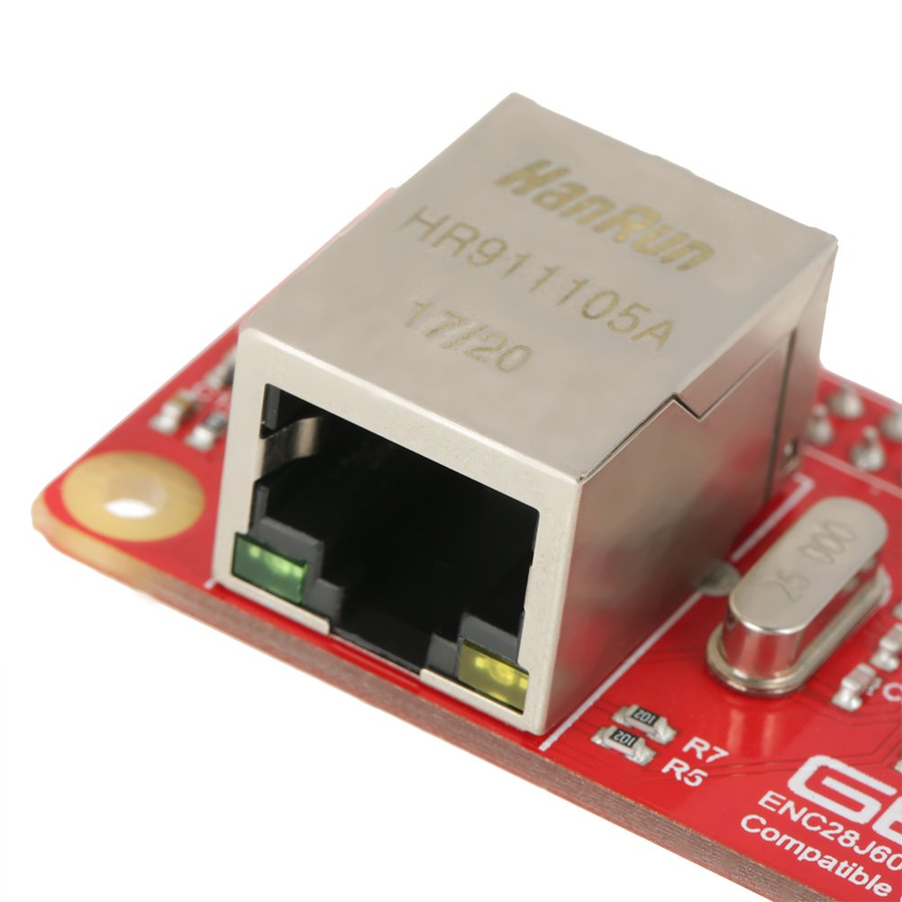 ENC28J60 Ethernet LAN Network Adapter Module for Raspberry Pi Zero Board