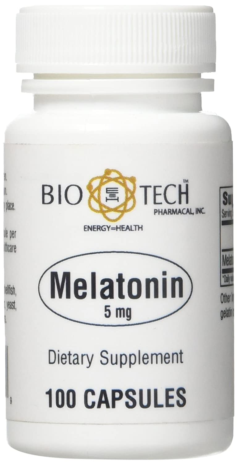 Amazon.com: BioTech Pharmacal - Melatonin 5mg - 100 Count: Health & Personal Care