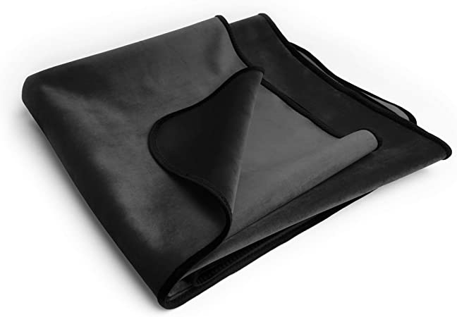 Liberator Lush Throw Moisture Resistant Blanket King Size Black Kitchen Dining Amazon Com