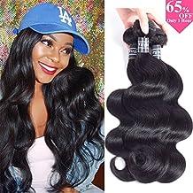 "Amella Hair 10A Brazilian Virgin Body Wave Hair 3 Bundles 300g 14"" 16"" 18"" Natural Black Color 100% Unprocessed Brazilian Virgin Human Hair Extensions Body Wave Hair"