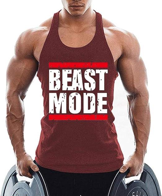 Canotta da uomo Beast Gym Stringer in cotone TX Apparel