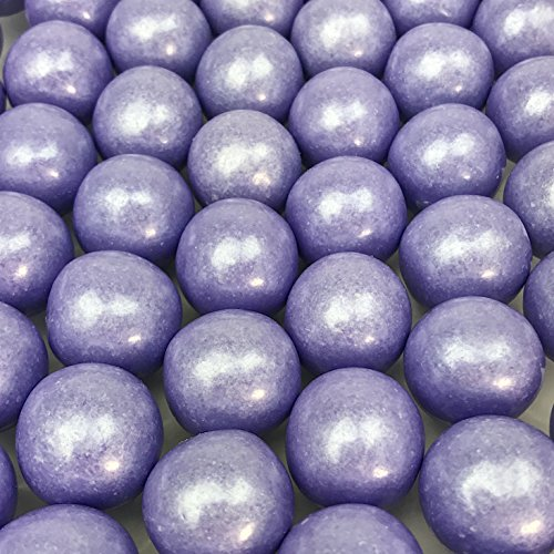 Large 1 Colored Shimmer Gumballs - 2 Pound Bags - About 120 Gumballs Per Bag (Shimmer Lavender)