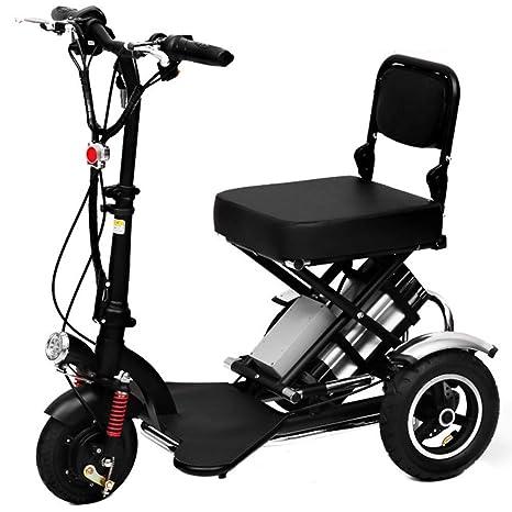 CYGGL Mini Fold Triciclo eléctrico, Scooter eléctrico ...