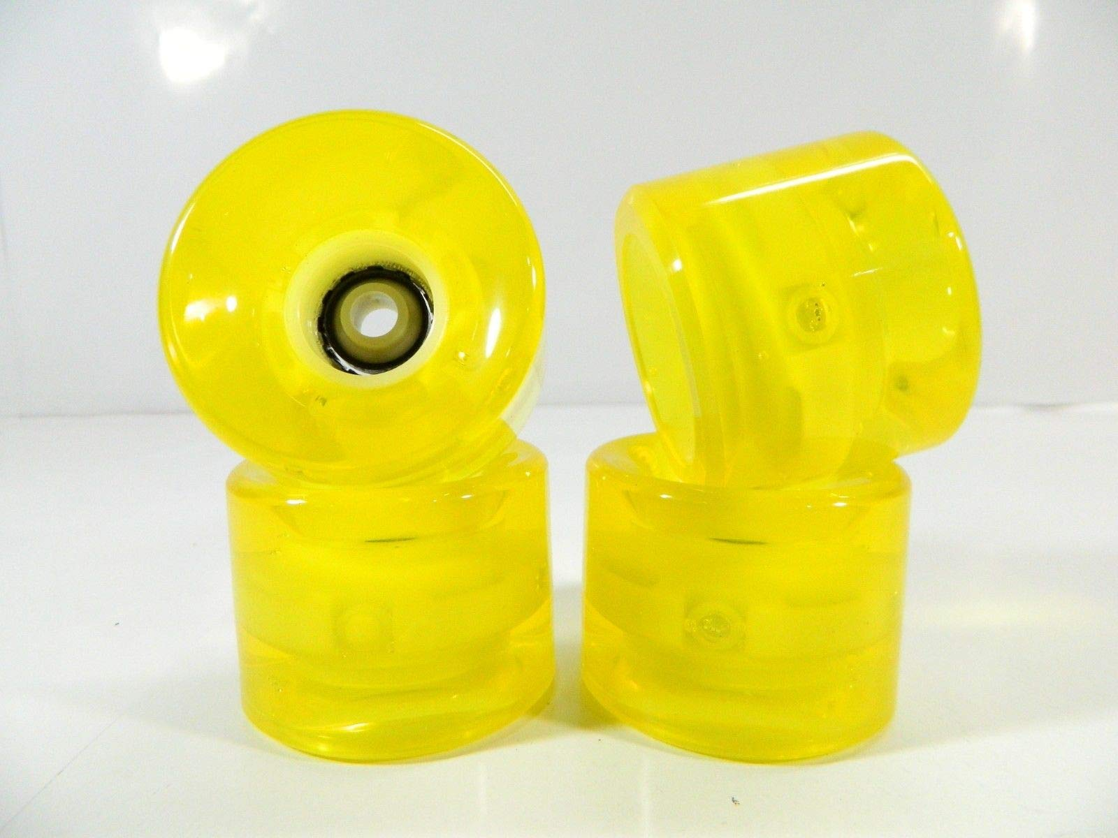 Good Skateboard Clear Yellow 60Mm X 45Mm Longboard Cruiser Led Light Up Clear Color Wheels