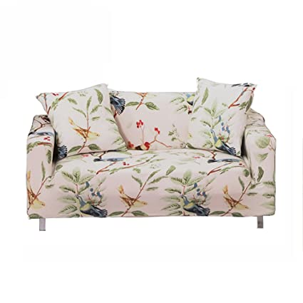 Exceptionnel ENZER Stretch Sofa Slipcover Flower Bird Pattern Chari Loveseat Couch Cover  Elastic Fabric Kids Pets Protector