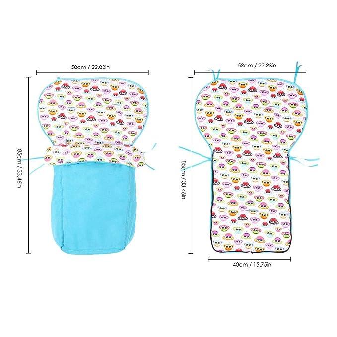 Per Colchonetas Silla de Paseo Universales para Bebés Saco de Abrigo Multifuncional para Cuatro Estaciones Cojines para Carrito Infantil: Amazon.es: Bebé