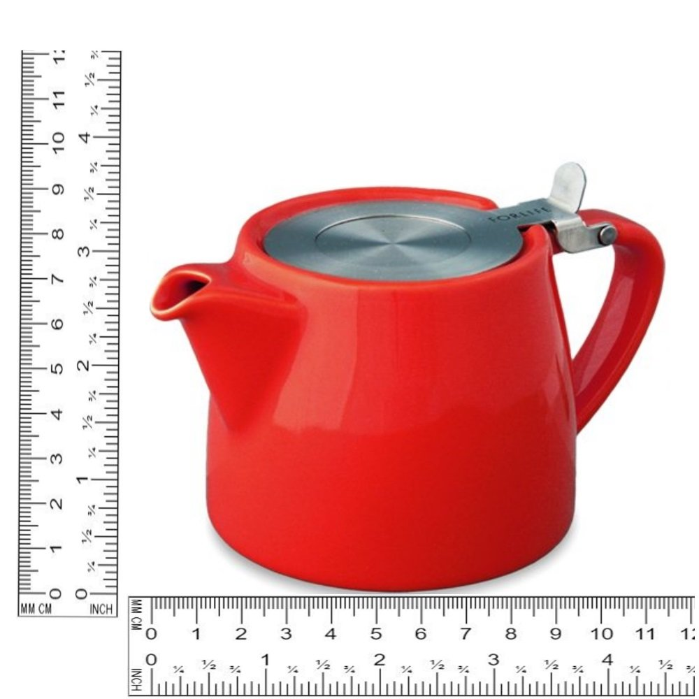 Forlife Stump teapot Red 400ml 1 person / cup 022-00651