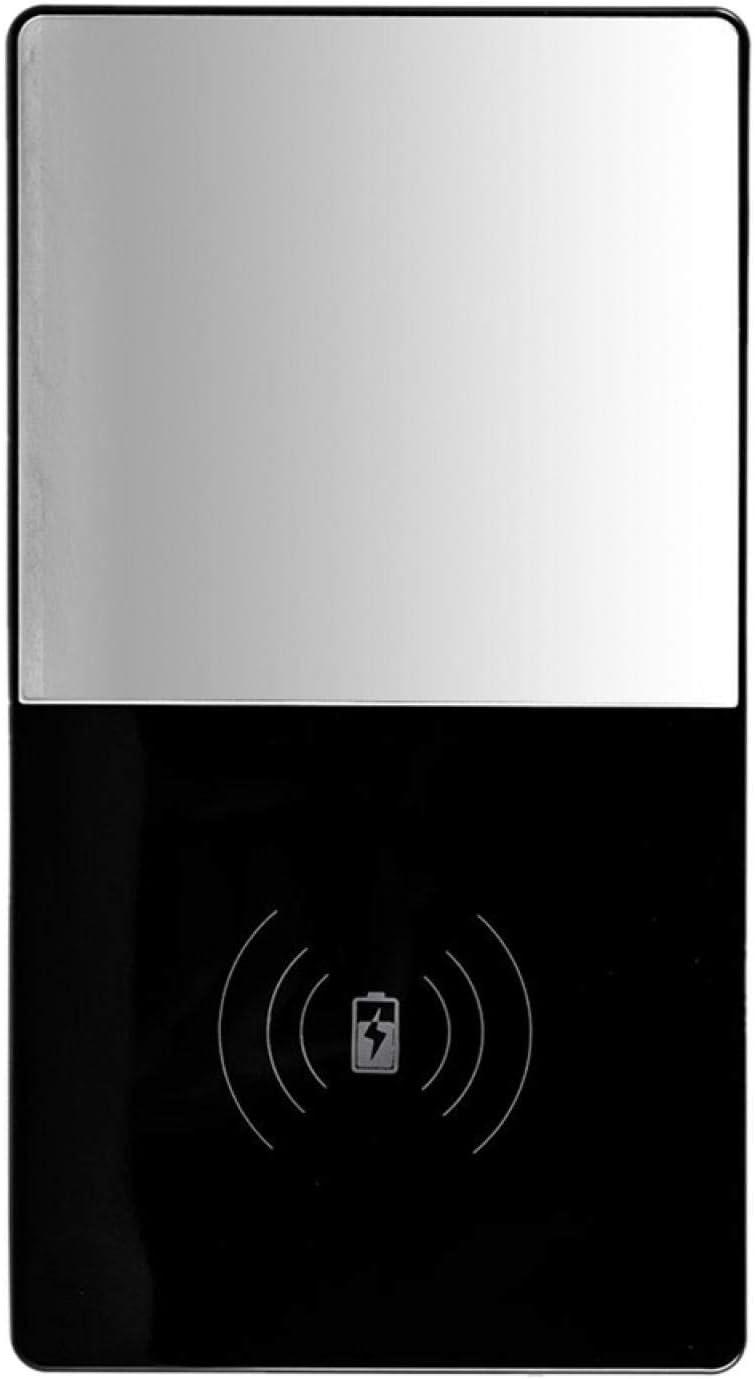 Coffee Warmer, 3-in-1 Smart Coffee Mug Warmer with QI Wireless Charger, Coffee Mug Warmer and Mirror for Office Home Desk Use, Cup Warmer Plate for Coffee Milk Tea Water