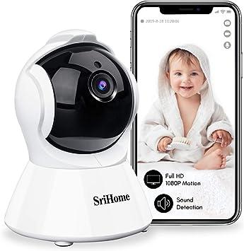 Opinión sobre TKOOFN 1080P HD Cámara IP WiFi, Cámara de Vigilancia de Seguridad Inalámbrica Rotación de 355 Grados para Mascota y Bebé con Audio Bidireccional + Visión Nocturna Compatible con iOS/Android