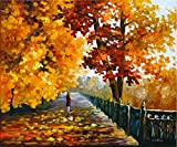 Blues Of Falling Leafs is a Limited Edition print from the Edition of 400. The artwork is a hand-embellished, signed and numbered Giclee on Unstretched Canvas by Leonid Afremov. This wonderful artwork is one of Afremov's most popular Fall images as w...