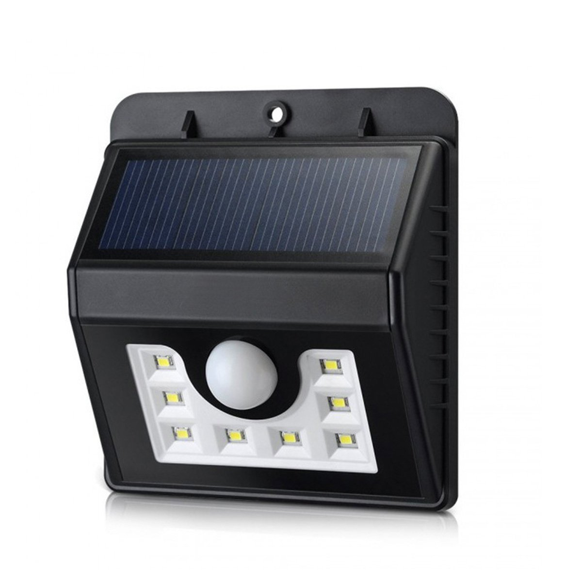 Solar Light Outdoor,WONFAST Waterproof Solar Power 8 LED Security Lighting Motion Sensor Wall Light for Garden Diveway Patio Fencing Path (1-Pack)