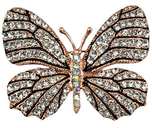 - QTMY Colorful Rhinestone Butterfly Brooches Pin (1)