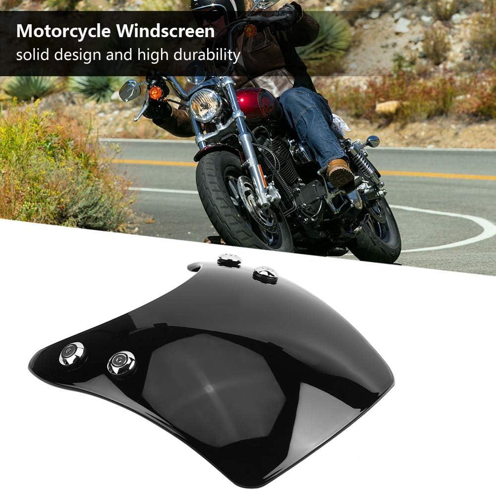 Kimiss Universal Motorrad Verstellbare Clip On Windschutzscheibe Erweiterung Spoiler Windschutzscheibe Zubehör Motorrad Windabweiser Schwarz Auto
