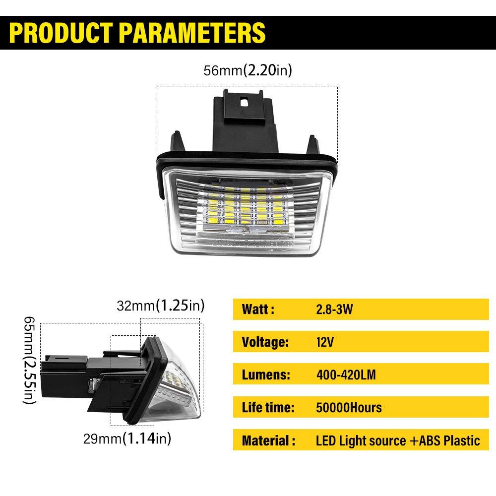 Stream etc 2 Pieces HR-V CR-V Safego LED Number License Plate Light 3014 18SMD 6000K White 12V for HON-DA Jazz FR-V 1 year warranty Crosstour 5D Insight 5D Logo