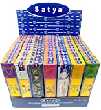 (7-Pack/105g) - Satya Nag Champa Incense Sticks | Assorted Gift Set Series | Hand-Rolled Agarbatti | Sai Baba Signature Fragrance | Exclusively Made In India | Export Quality | (Natural Series)