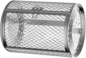 USBLUEWAVE 7 x 4.72 Inches Stainless Steel Air Fry Oven Rotating Drum Accessory with Iron Stick, 1 pc