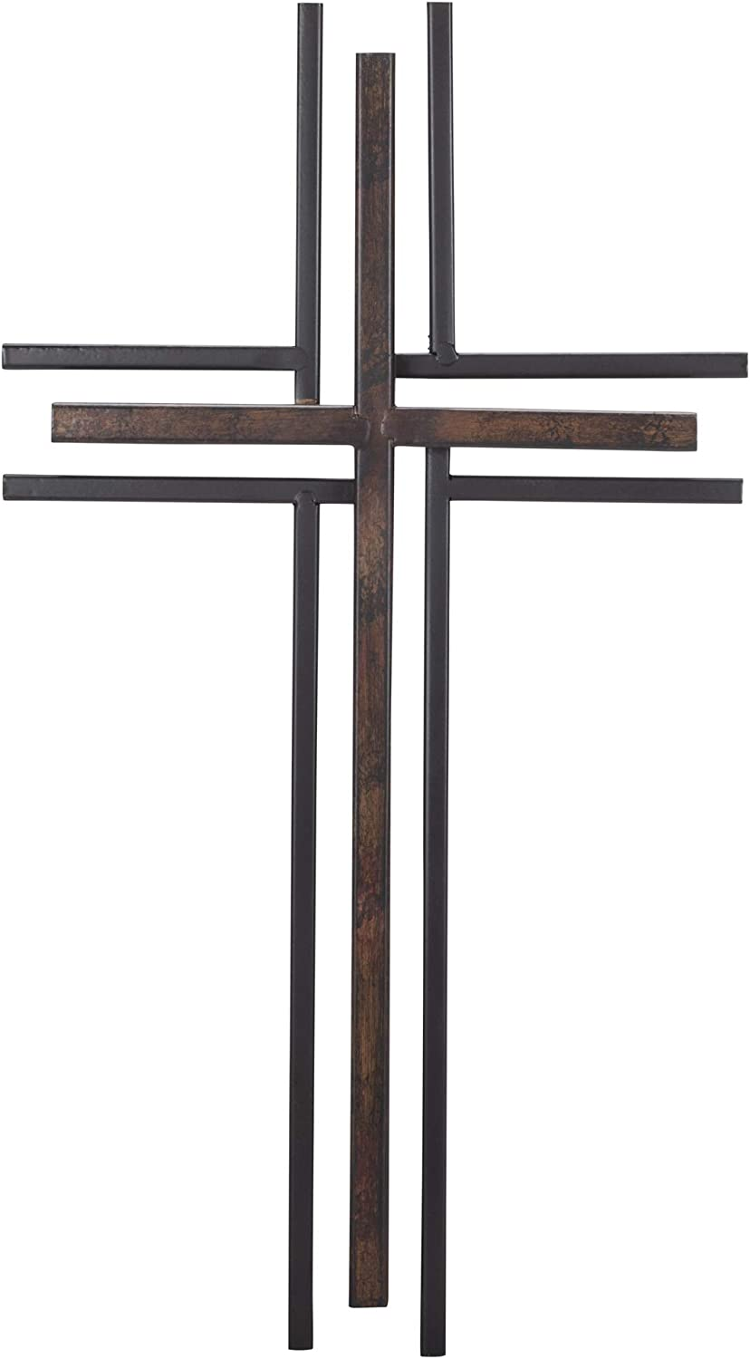 Dicksons Double Layer 16 inch Decorative Metal Wall Cross