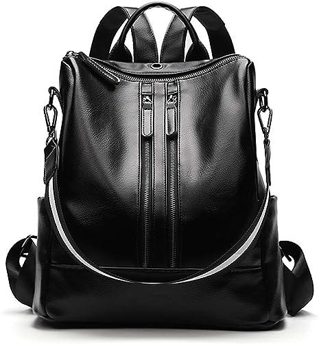 Ladies Leather Travel Bag College School Bag Rucksack Soft And Lightweight