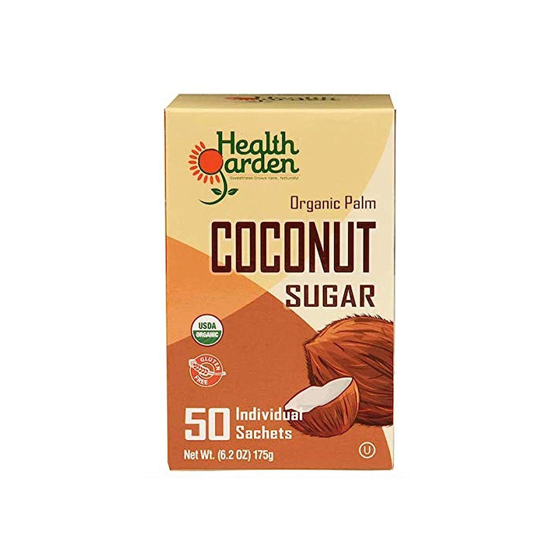 Health Garden Coconut Sugar - Gluten Free - Organic - Non GMO - Kosher - Keto Friendly (50 Packets)