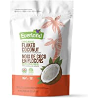 Everland Organic Unsweetened/Unsulphured Large Coconut Flakes/Chips, 227gm