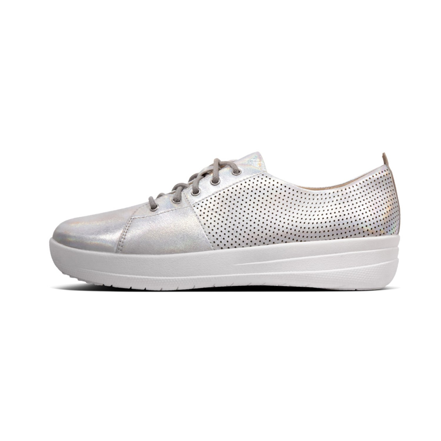 0a38f30611 Amazon.com | FitFlop Womens F-Sporty Scoop Cut Perforated Sneakers |  Fashion Sneakers