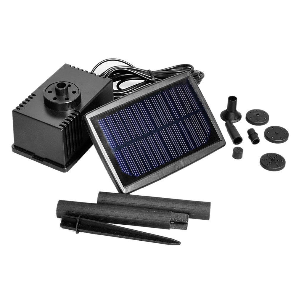 TOOGOO(R) Solar Panel Powered Fountain Garden Pool Pond Submersible Water Pump 5m by TOOGOO(R) (Image #2)