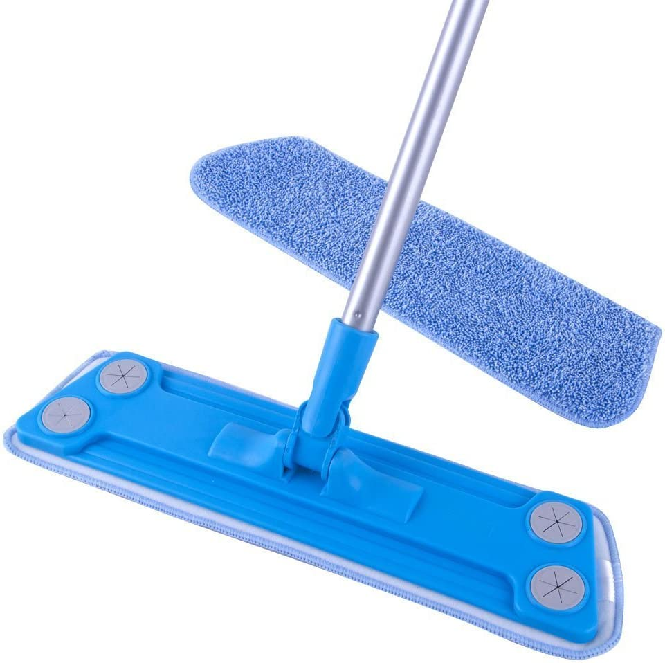 MR. SIGA Microfiber Floor Mop - Pad Size 43 x 14cm, 1 Free Microfiber Refill Included