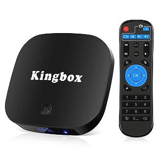 3D 8 GB ROM Supporte Bluetooth 4.0 Penta-Core Kingbox H.265 2018 Derni/ère Version K1 Plus Android 7.1 TV Box 2 GB RAM