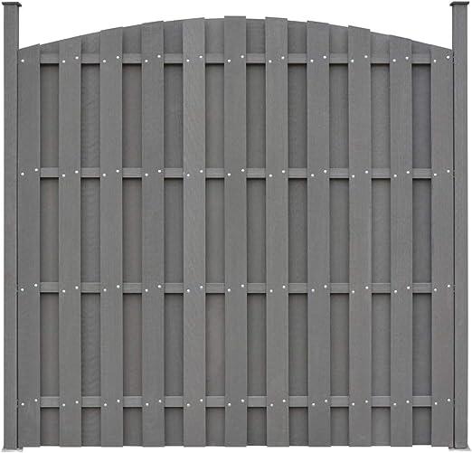 ghuanton Panel de Valla Curvado con 2 Postes WPC 180x(165-180) cm grisBricolaje Vallas de jardín Paneles de Vallas: Amazon.es: Hogar