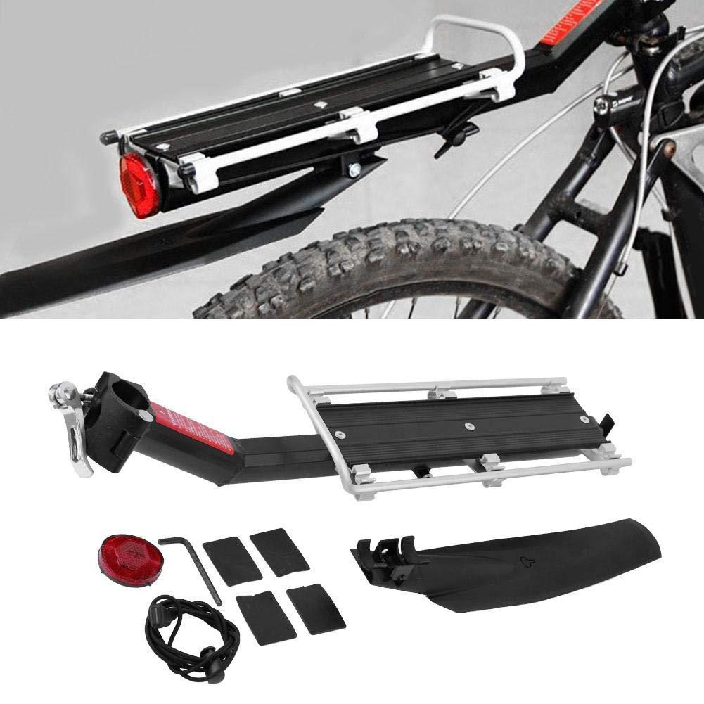 Portapacchi Posteriore in Lega di Alluminio con parafango per Bici Dilwe Portapacchi per Biciclette