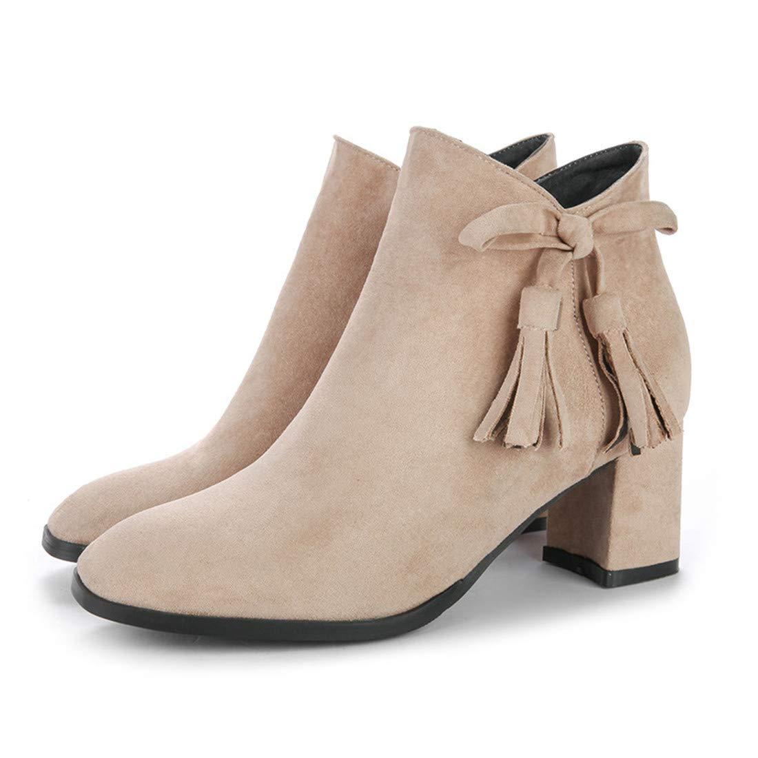 Stiefel-DEDE Stiefel   Kurze röhren Martin Stiefel  Damenschuhe wild   Kurze Stiefel mit hohen absätzen und großer größe
