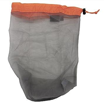 Ultralight Mesh Stuff Sack Storage Bag Drawstring Bag For Travel Camping Hiking