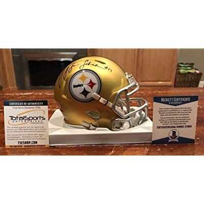 7ef9138b5bf Juju Smith-Schuster Signed Autograph Pittsburgh Steelers Blaze Mini Helmet  Beckett Tse