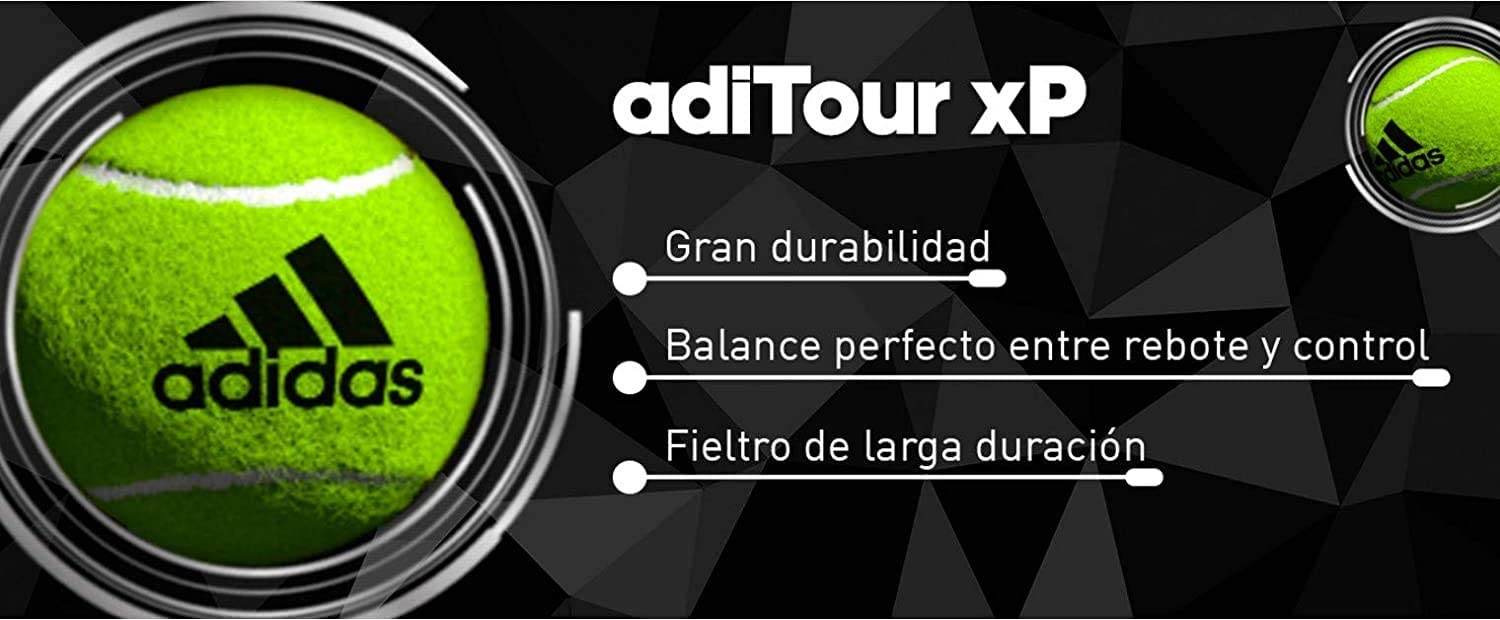 Familiar Sabio lucha  Amazon.com : adidas Paddle Tennis Balls Pack Padle Ball ADITOUR XP  Professional Pack Paddle Ball Bolas de Padel : Sports & Outdoors