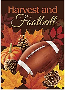 Morigins Football Garden Flag Fall Touchdown Sports Decorative Autumn Sports Game Day 12.5 x 18 Inch