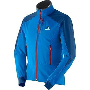 new arrival 6b236 0f70e Salomon Momemtum Softshell Jacket, Union Blue / Midnight ...