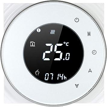 Noir Decdeal Wi-FI Thermostat Programmable Thermostat dAmbiance Intelligent sans Fil avec /Écran LCD Tactile